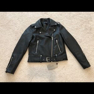Zara Basics Faux Leather Moto Jacket